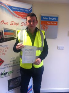 Ben Taylor from Buxton PASSED CAT C TEST today!