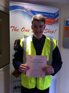 Calum Crooks from Selston PASSED CPC MOD 4