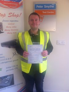 Gregory Adlington from Chesterfield PASSED CAT C