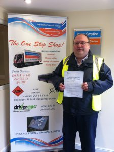 Kevin Crowe from Lincoln PASSED CAT C