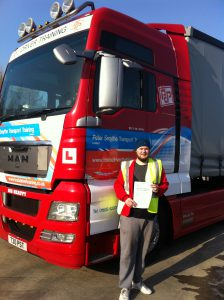 Lewis Oakey from Swadlincote PASSED CAT C+E
