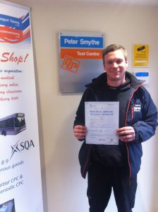 Tim Gray from Chesterfield PASSED CAT C+E
