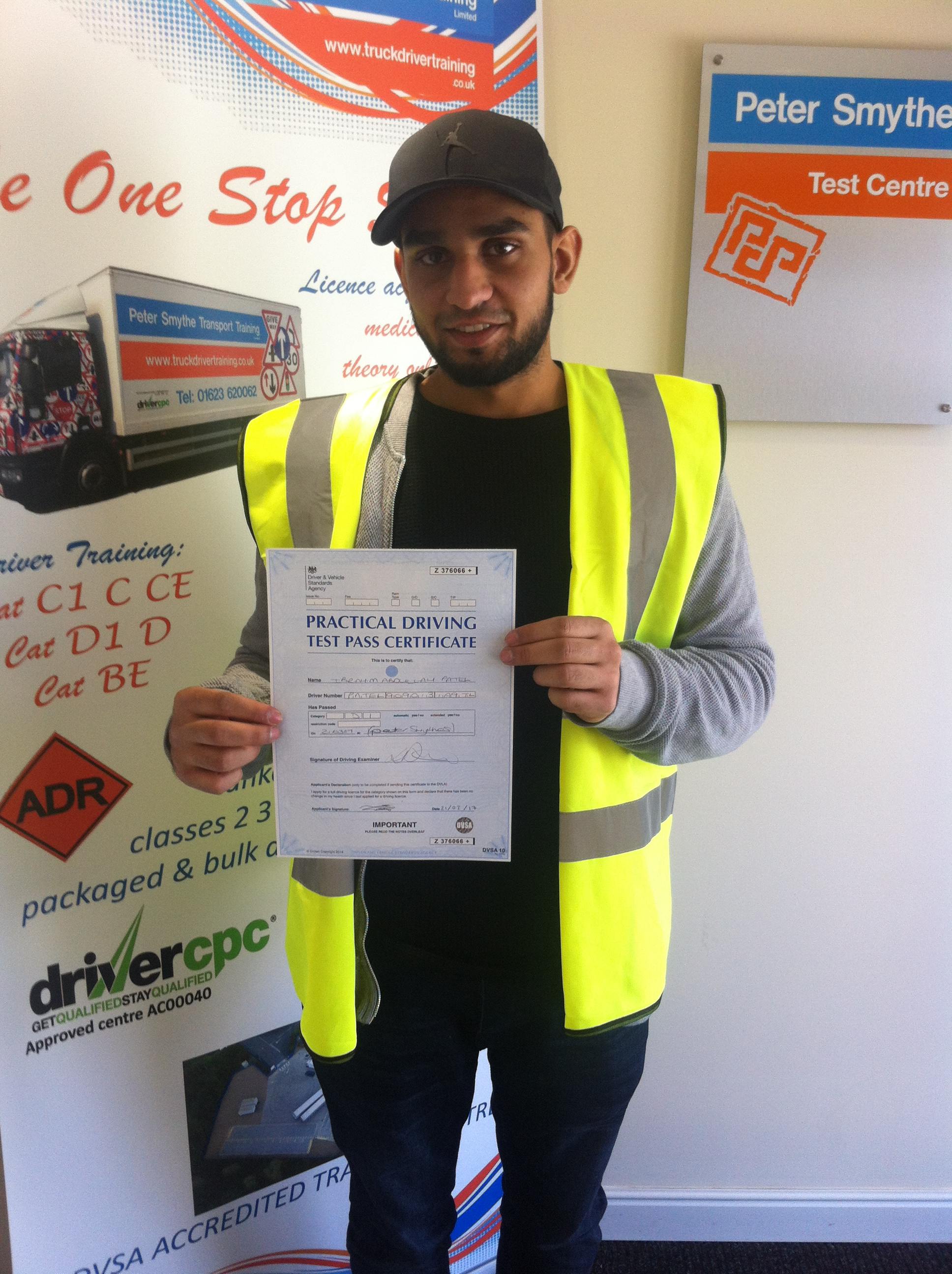 Ibrahim Patel from Leicester PASSED CAT D1