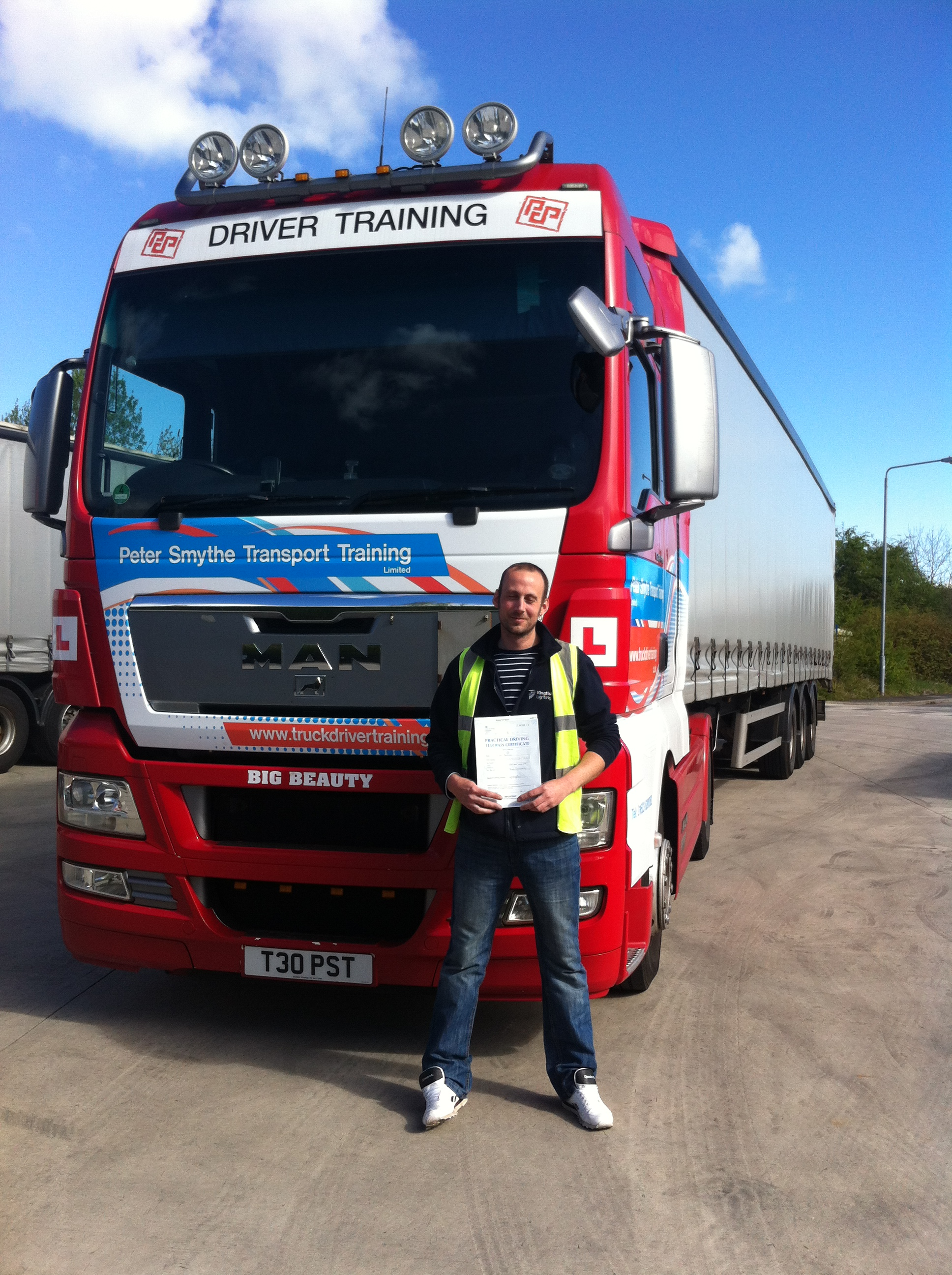 Mark Preston from Warsop PASSED CAT C+E