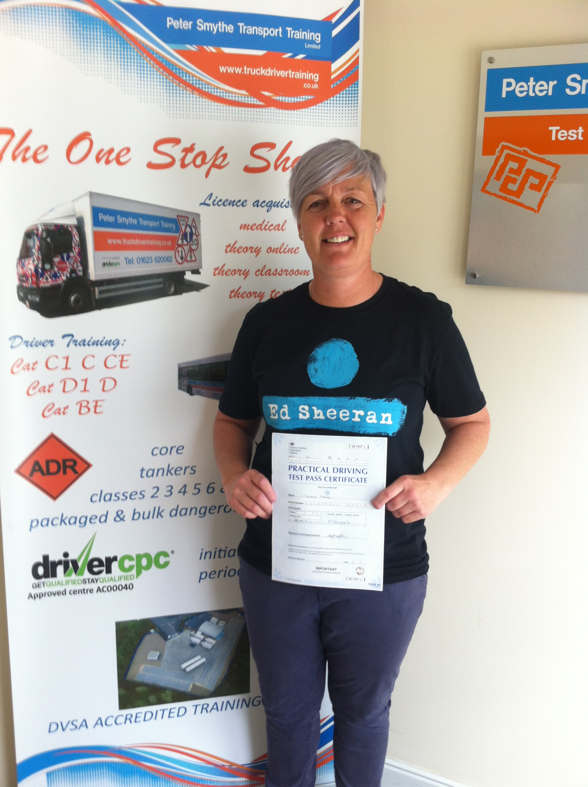 Debbie Ashby from Chesterfield PASSED CAT C