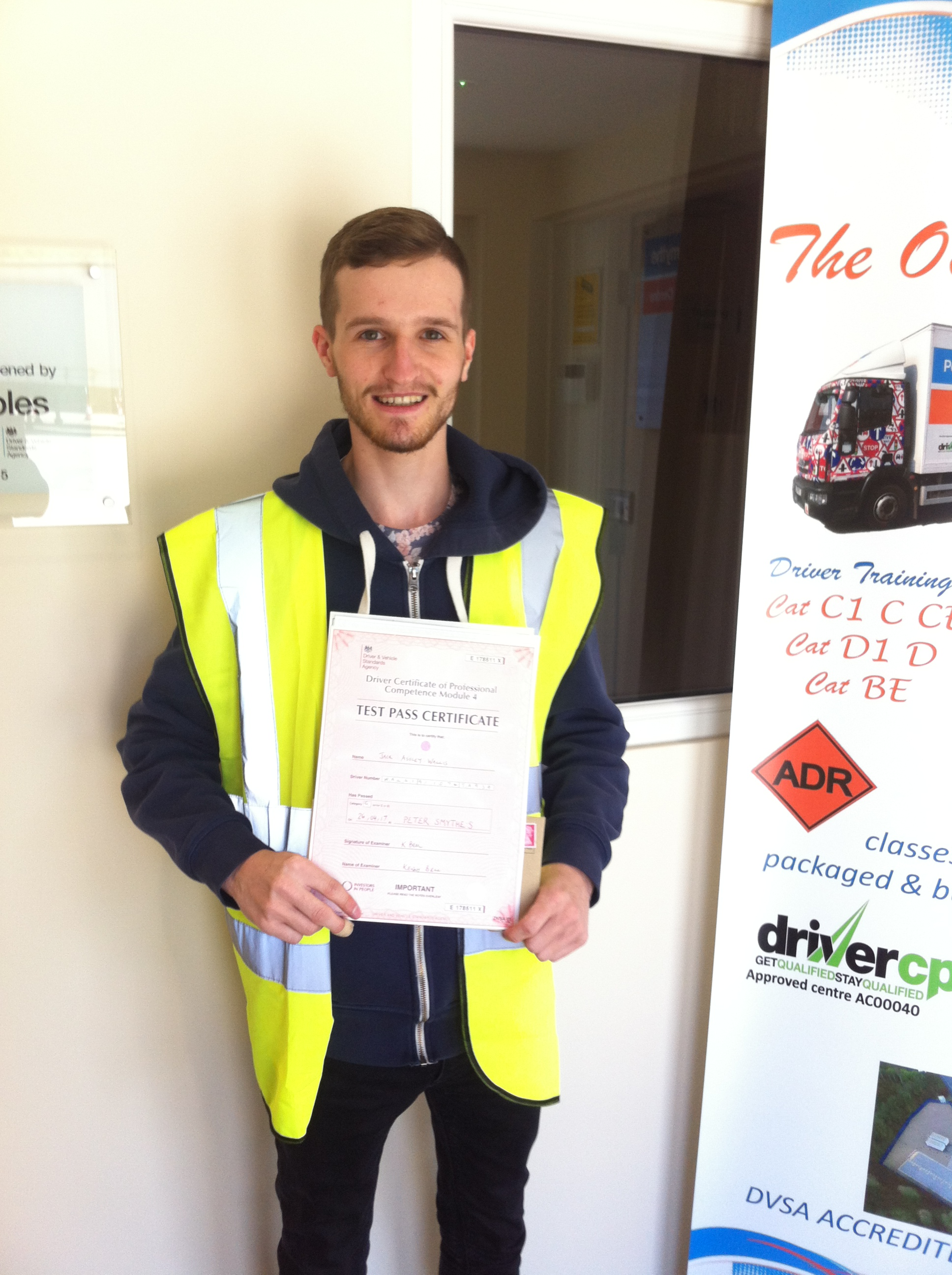 Jack Wallis from Nottingham PASSED CPC MOD 4