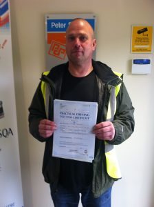 Stephen Taylor from Worksop PASSED CAT C