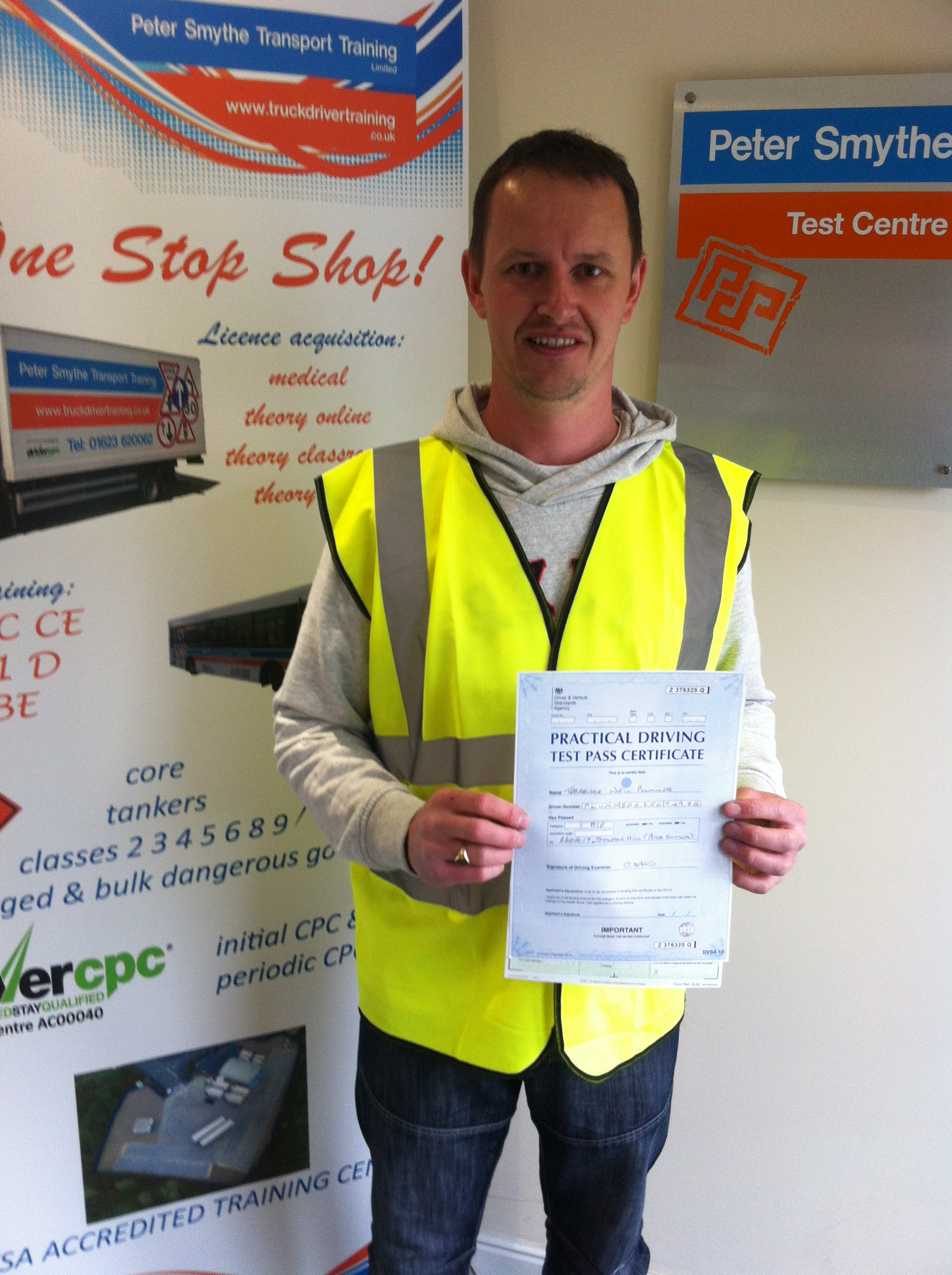 Terrence Plummer from Mansfield PASSED CAT B+E