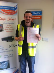 Chris Windle from Warsop PASSED CPC MOD 4