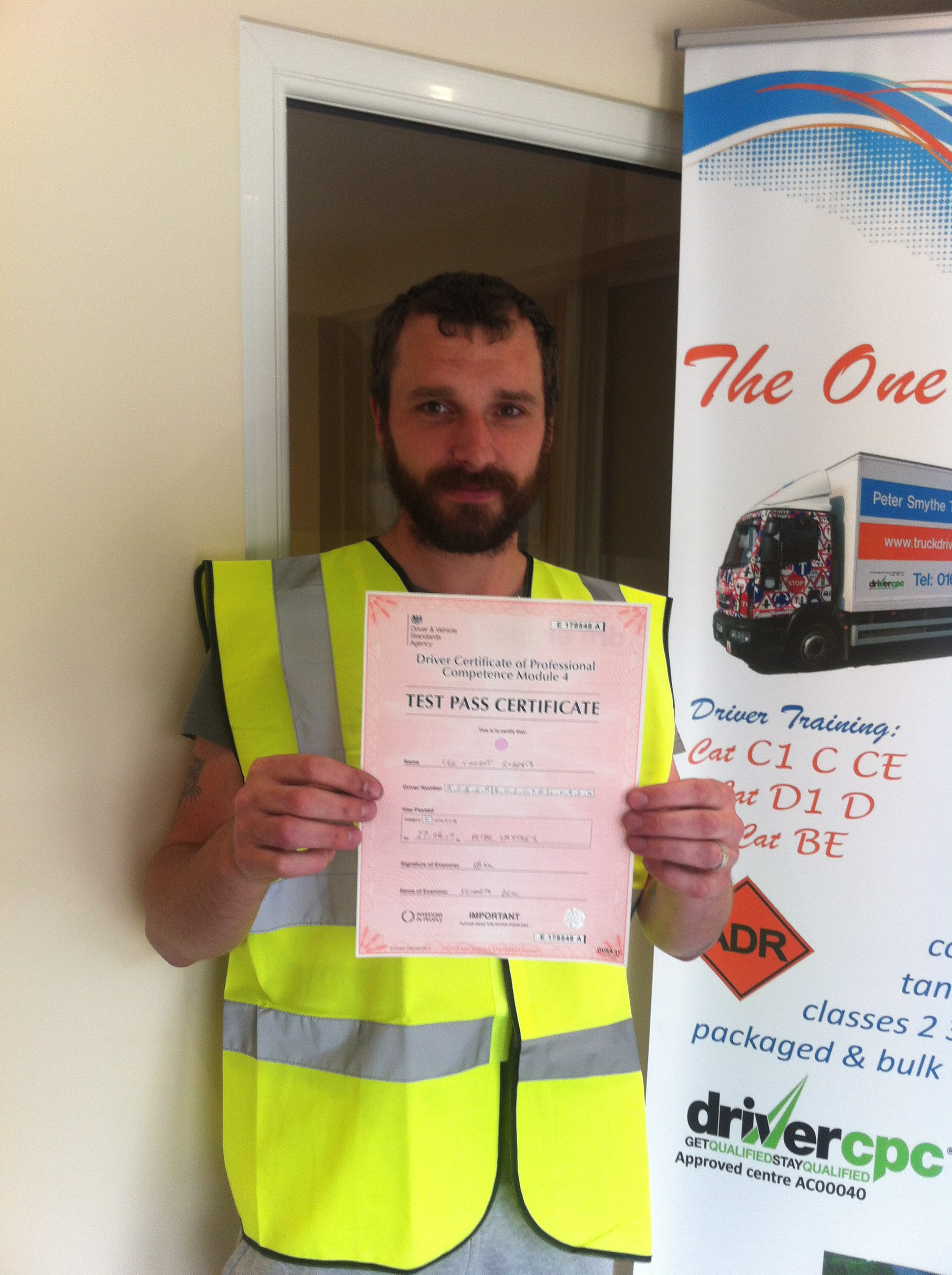 Lee Roberts from Shirebrook PASSED CPC MOD 4