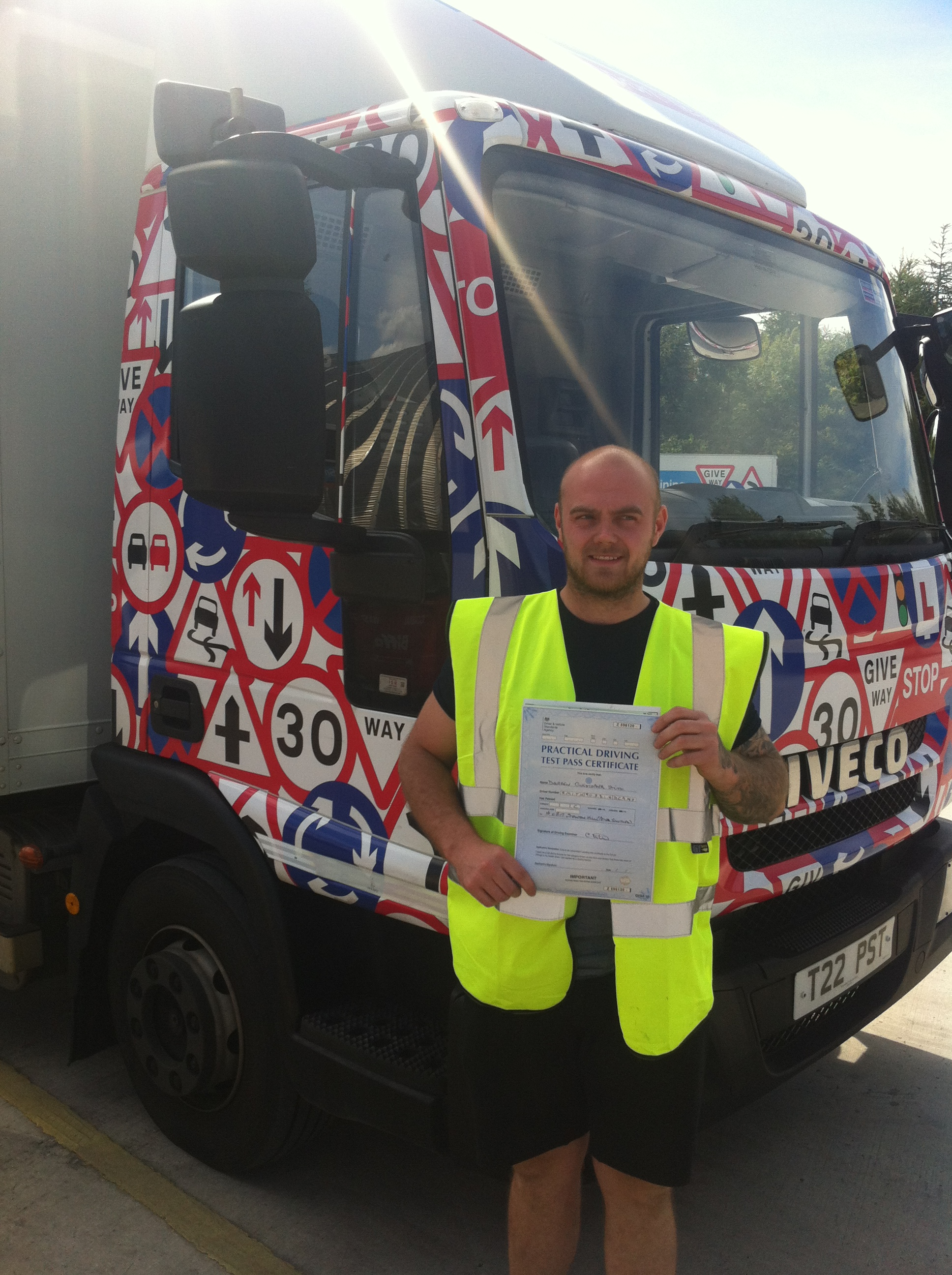Darren Smith from Chesterfield PASSED HGV CLASS 2 with a CLEAN SHEET #Ipassedwithpstt