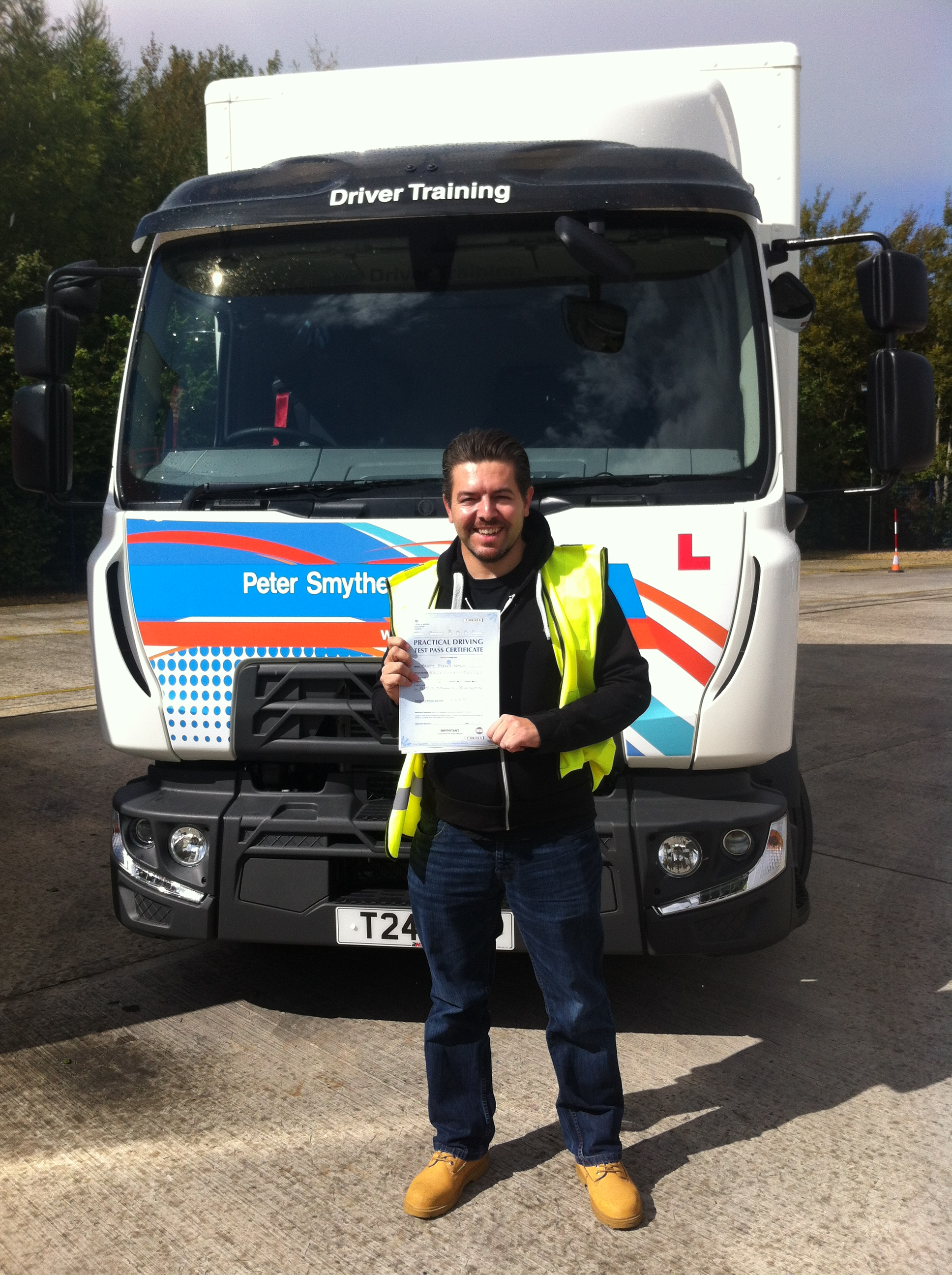 Brett Wales from Nottingham PASSED his CAT C TEST#Ipassedwithpstt Brett is the first PASS in our NEW TRUCK