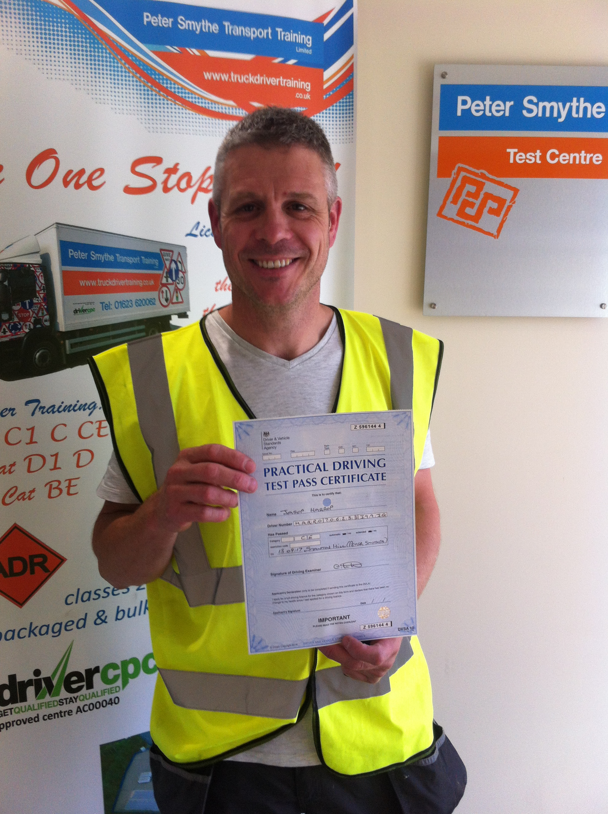 Jason Harrop from Mansfield PASSED HGV CLASS 1#Ipassedwithpstt