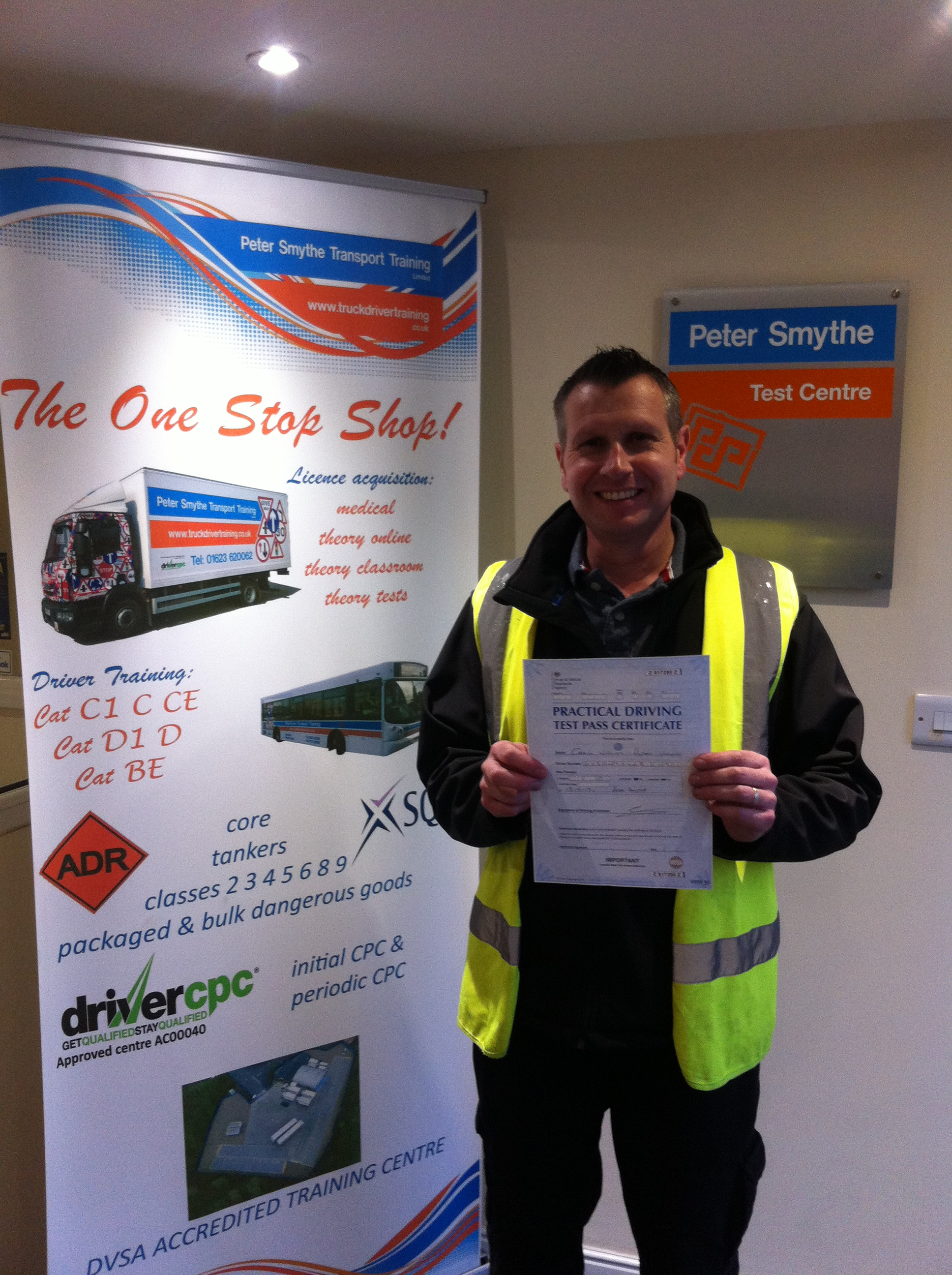 Craig Dyson-Unwin from Sponson PASSED Cat D1