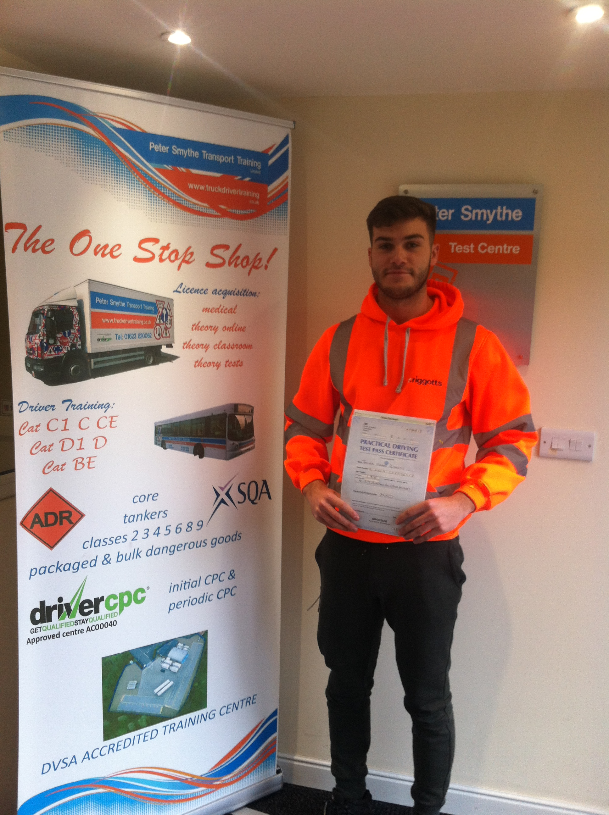 James Riggott from Newark passed Cat B+E