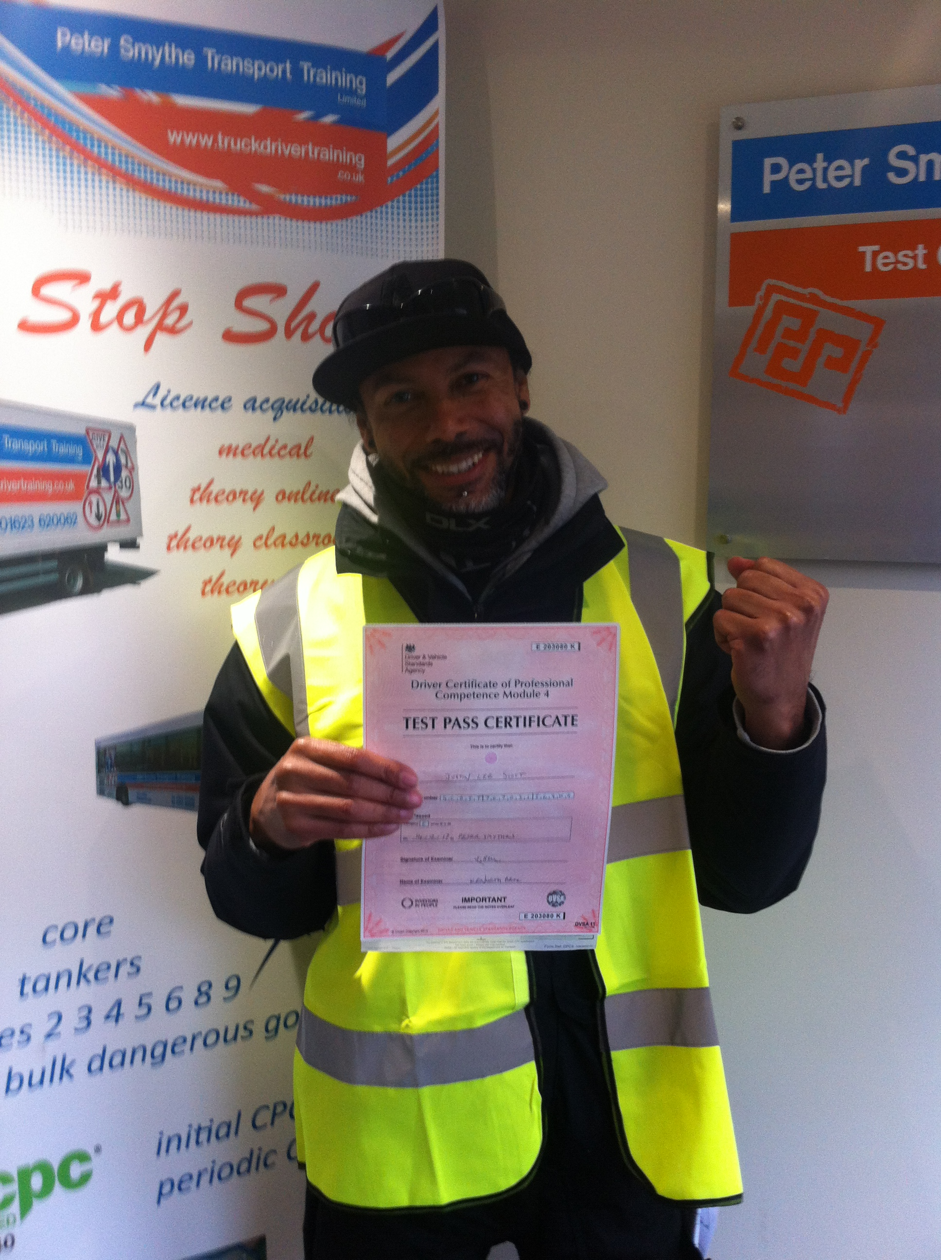 Justin Scott from Long Eaton passed CPC MOdule 4