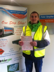 Oskar Golab from Mansfield Passed CPC Module 4