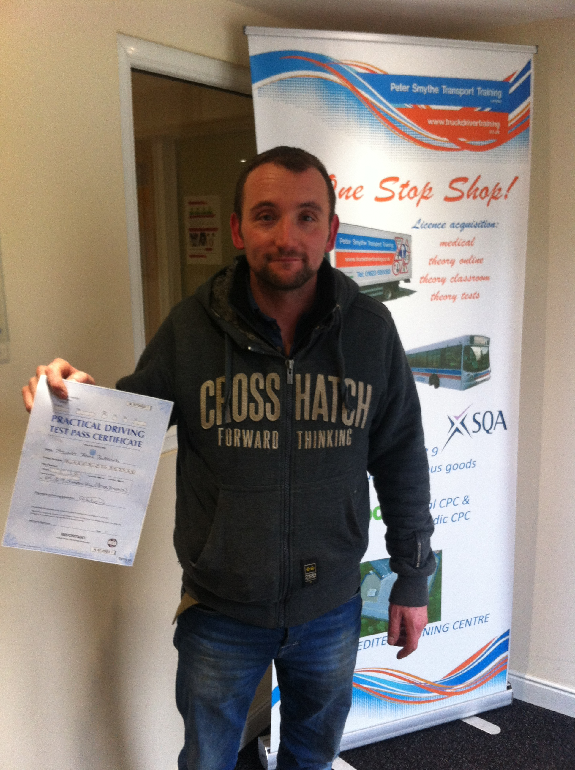 Stuart Burrows from Blackwell PASSED CAT C #ipassedwithpstt