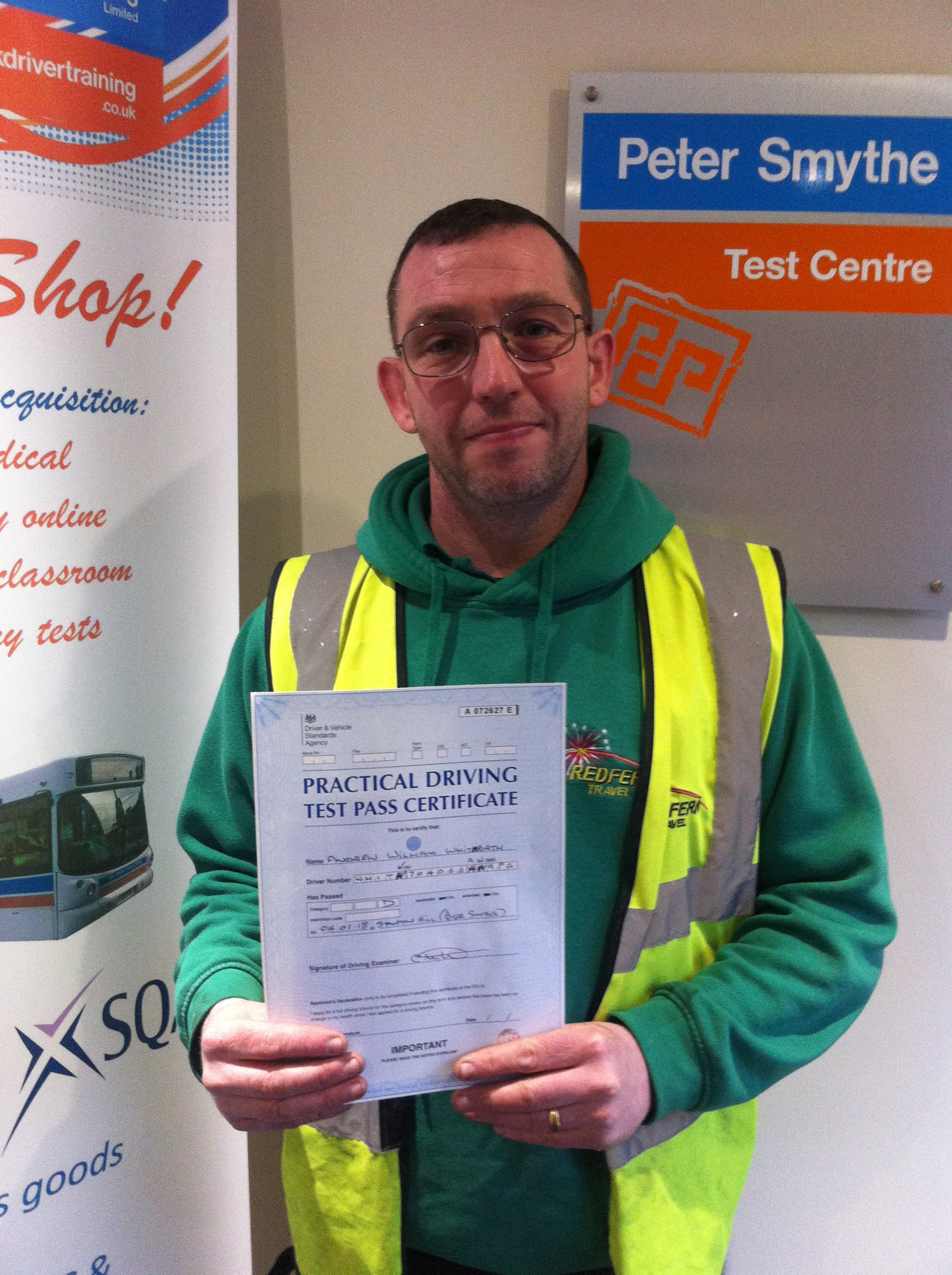 Andrew Whitworth from Rotherham PASSED CAT D #ipassedwithpstt