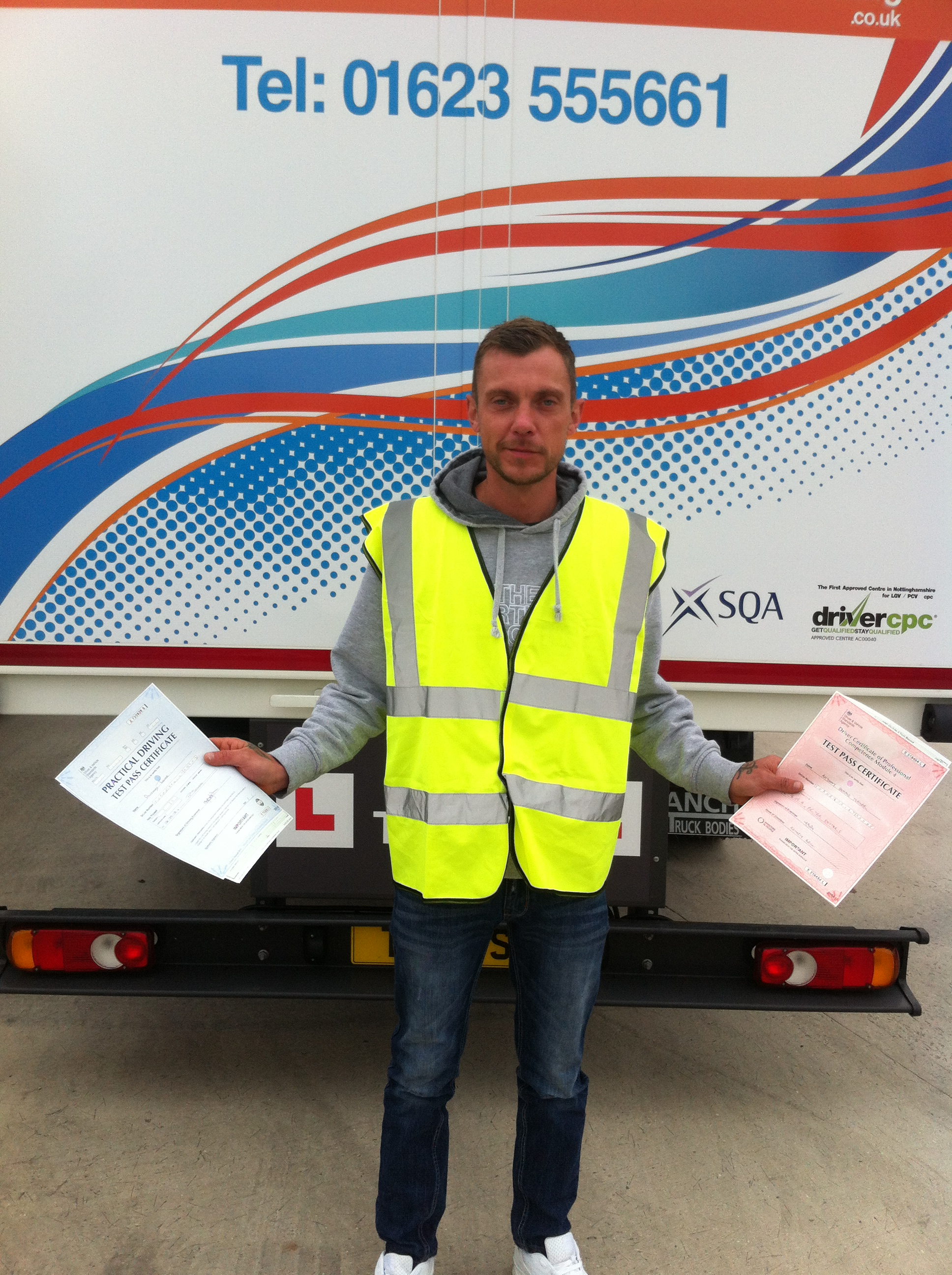 Anthony Turner from Worksop PASSED CAT C & CPC MOD 4#ipassedwithpstt