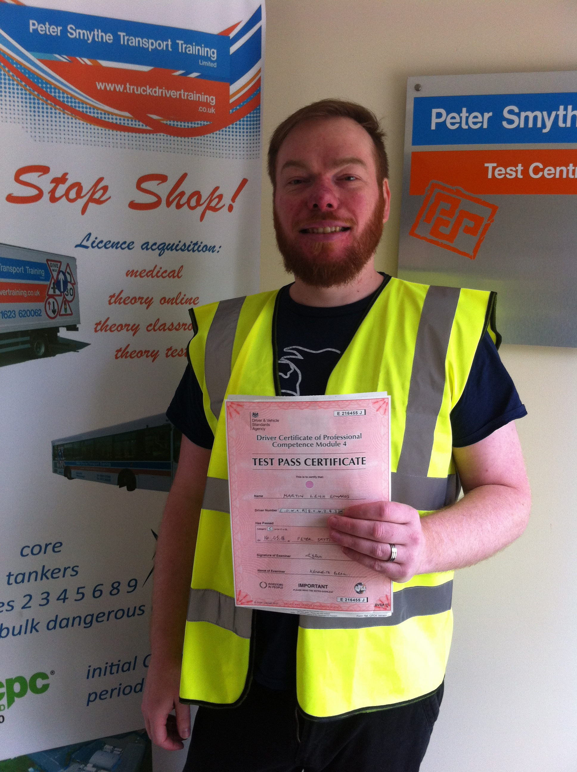Martin Edwards from Barnsley PASSED CPC MOD 4#ipassedwithpstt