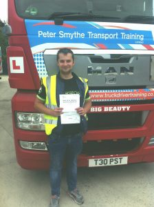 Damian Drozdz from Kirkby In Ashfield PASSED HGV CLASS 1#ipassedwithpstt