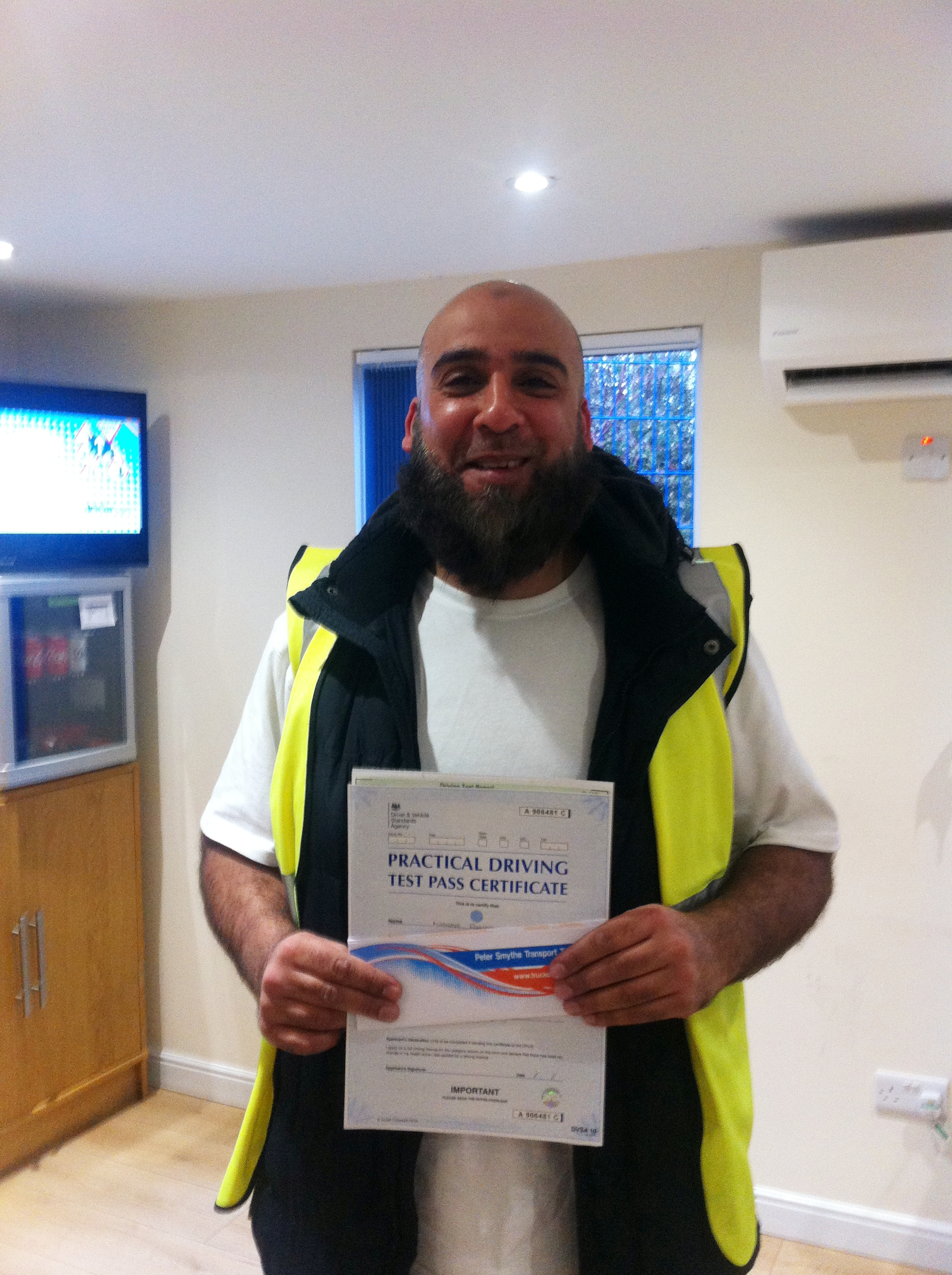 Nasar Ahmed from Rotherham PASSED CAT C#ipassedwithpstt